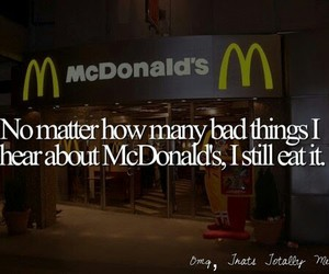 McDonalds, food, and eat image