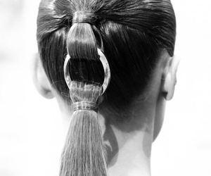 b&w, beauty, and hair image