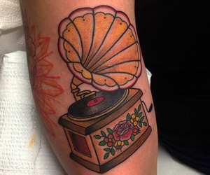 ink, music, and tattoo image