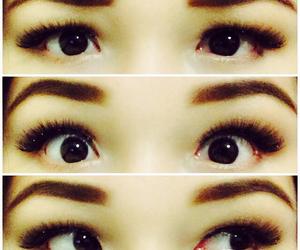 asian, brown, and eyelashes image