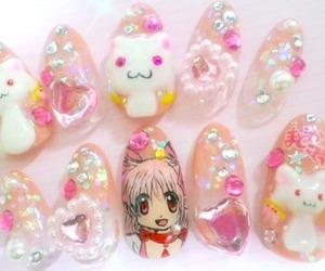 bling, kawaii, and nails image