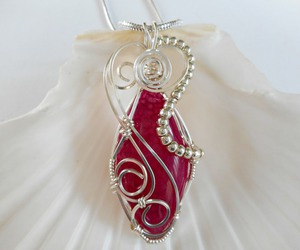 handmade, jewelry, and wire wrapped image