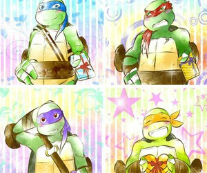 donnie, tmnt, and Leo image