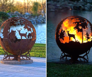 fire and deer image