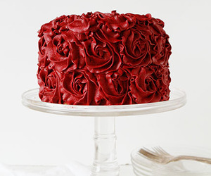 cake, food, and red image