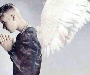 justin bieber, angel, and beliebers image