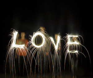 love, boy, and fireworks image