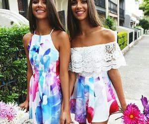 dress, girls, and smile image