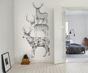 room and deer image