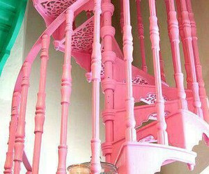 pink, home, and stairs image