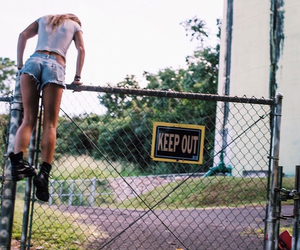 girl, keep out, and grunge image