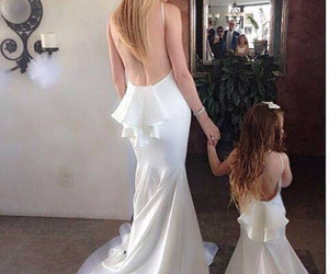 beautiful, white dress, and daughter image