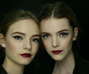 model, lipstick, and pretty image