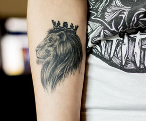 tattoo, lion, and king image