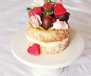 cake, chocolate, and february image