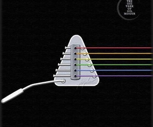 dark side of the moon and Pink Floyd image