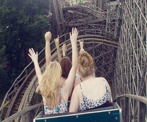 fun, friends, and Roller Coaster image