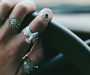 rings, grunge, and car image