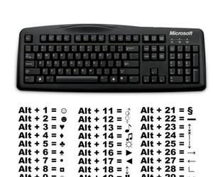 keyboard, symbols, and cool image