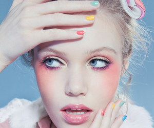 pastel, makeup, and nails image