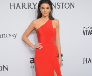 kendall jenner, dress, and red image