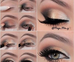 beauty, elegant, and eye shadow image