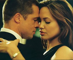 Angelina Jolie, love, and brad pitt image