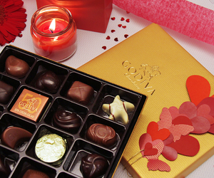 box, candle, and chocolate image