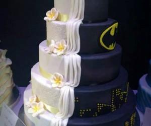 batman, cake, and wedding image