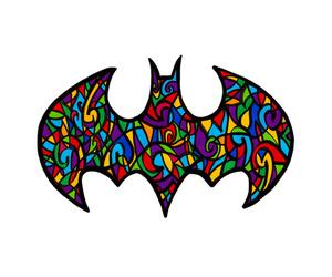 batman, hero, and bat signal image