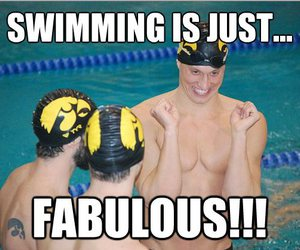 fabulous, funny, and swimming image