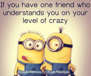 crazy, i need you, and minions image