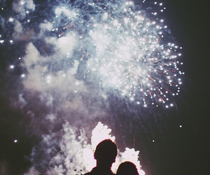 fireworks, love, and couple image
