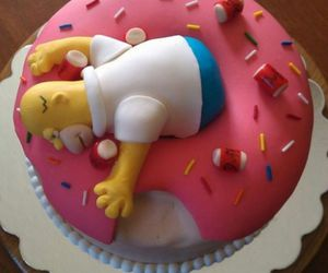 cake, donut, and simpsons image