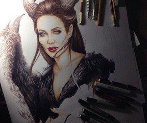pencil and maleficent image