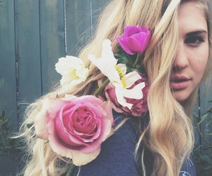fashion, indie, and flowers image