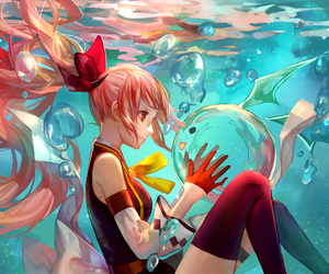 anime, anime girl, and water image