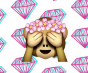 emoji, diamond, and background image