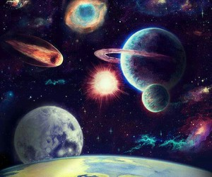galaxy and planets image