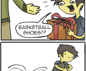 funny, shoes, and Basketball image