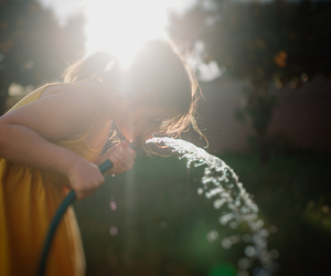 baby, sunshine, and water image