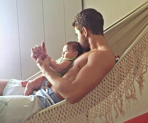 adorable, quality time, and baby image