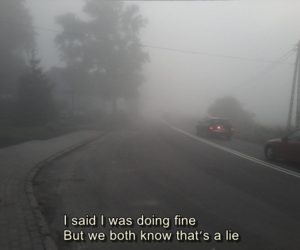 sad, lies, and quotes image
