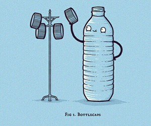 bottle and funny image