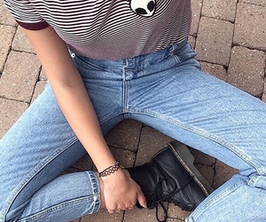 denim, grunge, and pale image