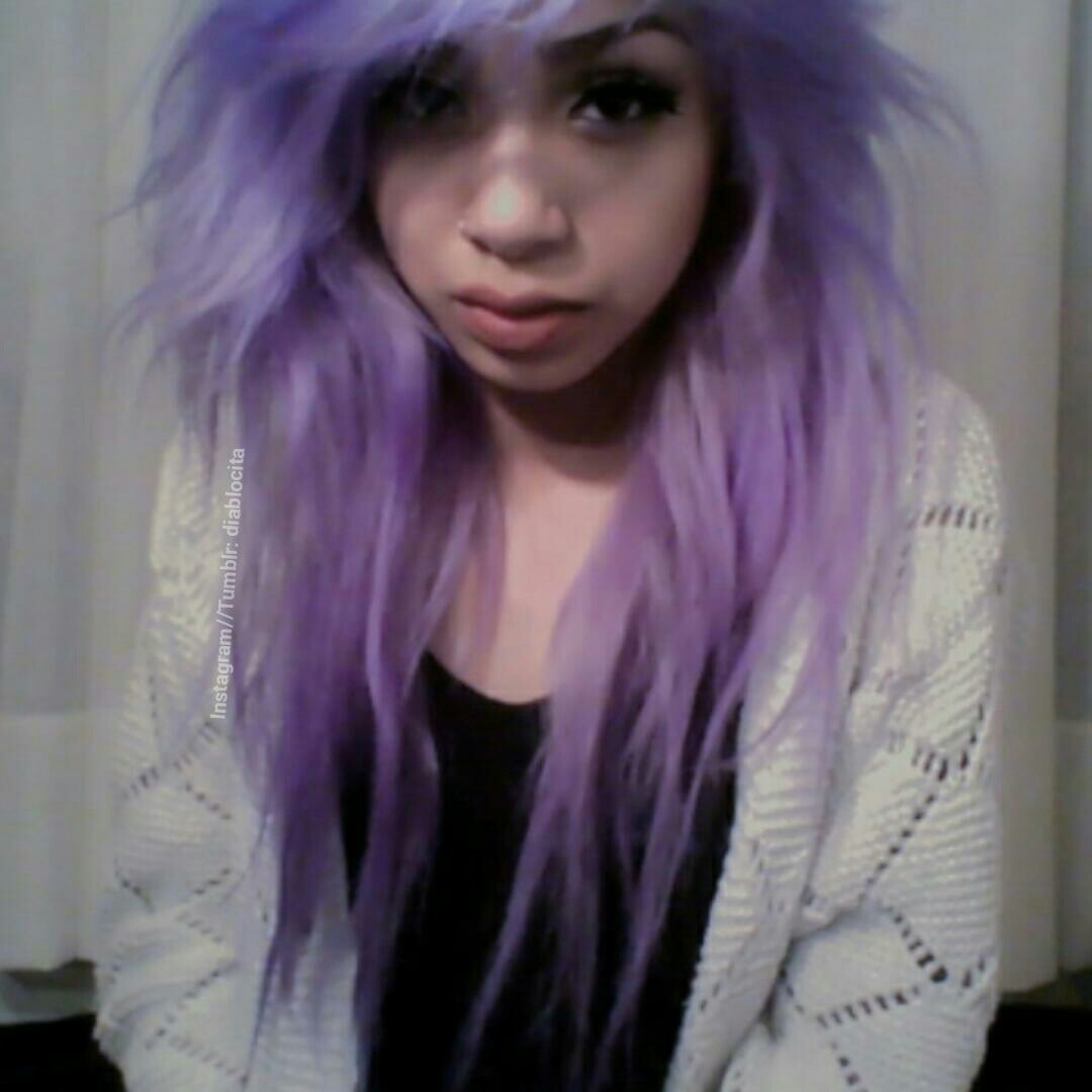 Fashion style Girls tumblr with light purple hair for lady