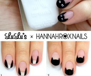 nails, cat, and diy image