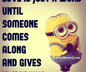 minion, text, and true image