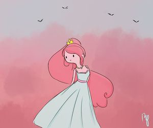 pink, adventure time, and princess bubblegum image
