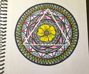 flower, mandala, and sketch image